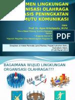 Manaj Lingkungan Organisasi Olahraga-ranatu Prapat 27-28 Maret 2014