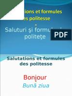 Salutations Et Formules Des Politesse