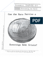 Can the Euro Survive a Sovereign Debt Crisis 6-14-10