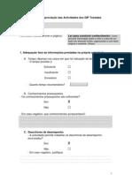 Matriz de Apreciacao Das Actividades GIP LEITURA Isabel Dinis
