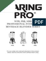 Waring Pro Manual