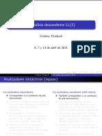 El analisis descendente LL(1)