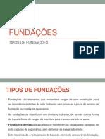 Tipos de Fundações