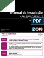Manual de Instalação APN_ZON-OPTIMUS