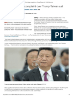 China Lodges Complaint Over Trump-Taiwan Call - CNNPolitics