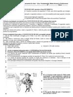 avaliação 8 ° Ano - Primeiro Reinado - Regencias