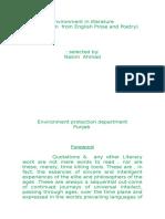 Environment in Literature by Nasim Ahmad