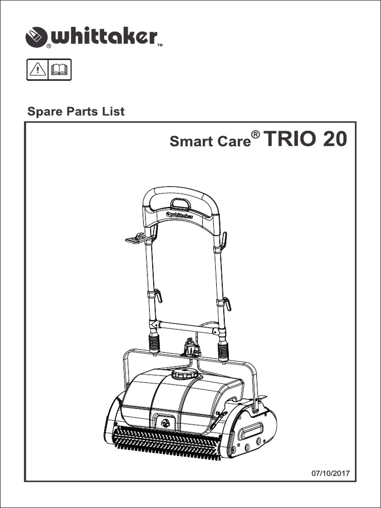 Whittaker Smart Care TRIO 20 Spare Parts Manual Rev 7-10