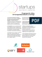 Programa de Visitas de Europarlamentarios a Startups_2016.
