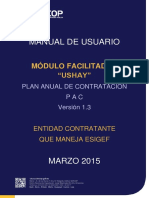 Manual USHAY - PAC Con ESIGEF - Entidades Contratantes