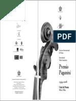 """Concorso Violinistico Internazionale """"Premio Paganini"""" 2006"""
