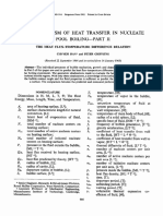 The Mechanism of Heat Transfer in Nucleate Pool Boiling—Part II the Heat Flux-temperature Difference Relation