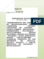Resumen Ejecutivo Mejoramiento carretera HV 109