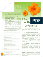 Healthy Lifestyle Pamphlet