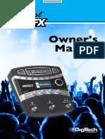 DIGITECH VocalistLiveFX Processor Manual