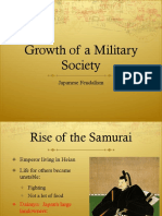 rise of military society in japan