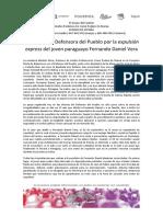 Unidos Podemos se queja al Defensor del Pueblo por la expulsión de un joven paraguayo