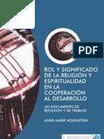 ROL Y SIGNIFICADO DE LA RELIGIÓN Y ESPIRITUALIDAD EN LA COOPERACIÓN AL DESARROLLO