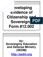 Developing Evidence of Citizenship and Sovereignty, Form #12.002