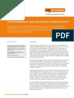 Activiteitenbesluit, overheidseisen aan Duurzaam Ondernemen