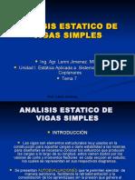 Tema 7 Analisis Estatico de Vigas Simples