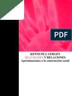 Gergen, K. - Realidades y Relaciones Cap. La Autonarración...