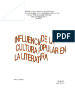 Influencia de La Cultura Popular en La Literatura