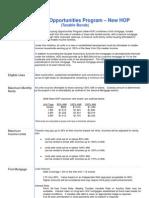 NYCHDC June 2006 New HOP Term Sheet