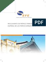 Reglamento de Trafico Ferroviario EFE