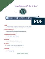 PRINCIPIO DE LA ORGANIZACION DE LOS PROCESOS
