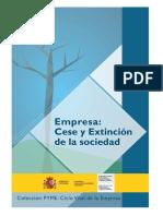 Guía para extinción y liquidación de la empresa