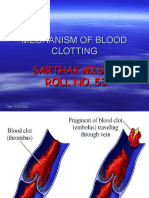 Sarthak Mechanism of Blood Clotting