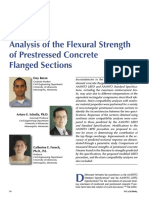 Analysis of the Flexural Strength of Prestressed Concrete Flanged Sections