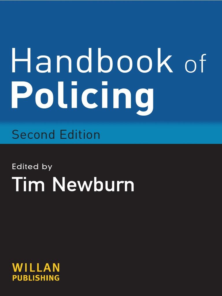 NEWBURN, Tim. Handbook of Policing | Police | Criminal Justice