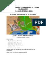Caratula Plan de Desarrollo Urbano de La Ciudad de Huarmey