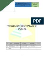 Anexo 09 - Proc. de Trabajo Seguro - Trabajo en Caliente