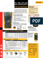 Fluke 73-77-175 177 and 179 Digital Multimeter Datasheet