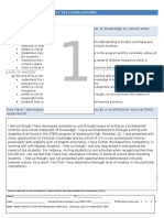 professional competency self evaluation sheets