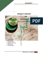 Economics Project on Oligopoly