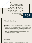 bullying in sports and recreation powerpoint