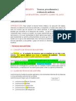 Semana 10.-Tecnicas de Auditoria, Concepto, Clases y El Juicio Del Auditor