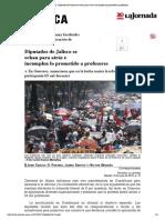 20150718_La Jornada_ Diputados de Jalisco se echan para atrás e incumplen lo prometido a profesores