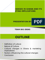 CULTURAL IMPLICATIONS FOR CONSUMER BEHAVIOUR-Ghana