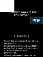 7 effective ways to use powerpoint