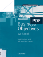 Business Objectives Workbook by Vicki Hollett and Michael Duckworth