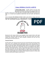 Obat Diabetes de Nature Herbal Paling Ampuh