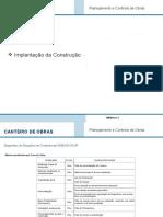 Planejamento e Controle de Obras Modulo IV