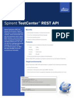 Spirent TestCenter REST API Datasheet