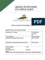 education 205 grant application