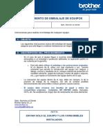 Plantilla Procedimiento Embalaje Equipos PDF